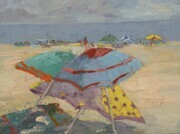 Annenberg Beach in Santa Monica Oil 9x12