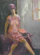Girl by the Window 9x11